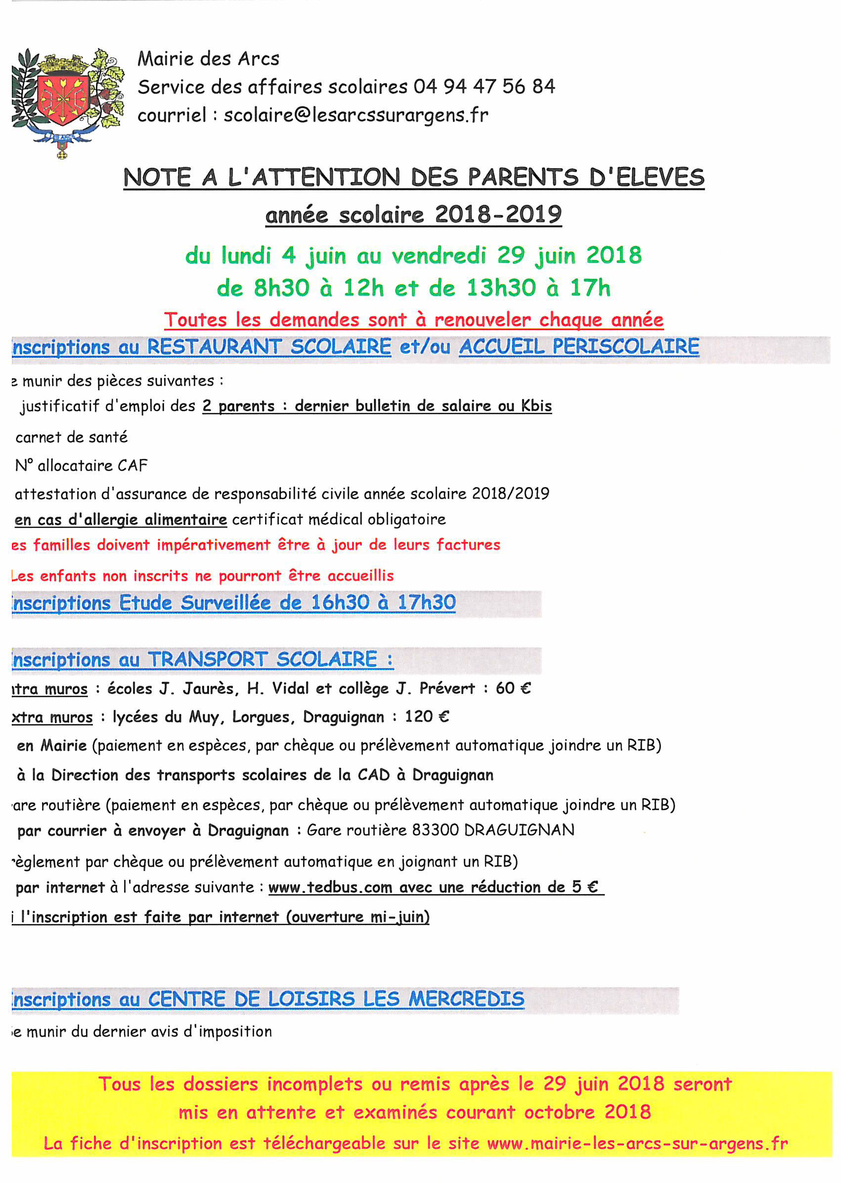 ejf note rentree scol 2018 2019