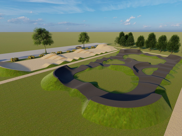 bike park pump track modelisation 3d