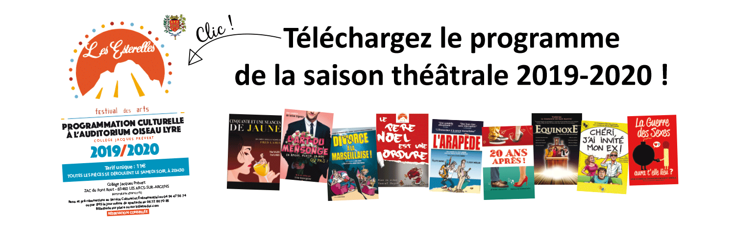 telecharge programme theatre 2019 2020