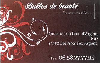 carte visite bulles beaut